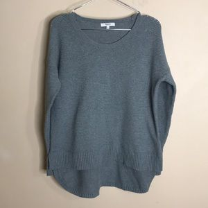 Madewell green chronicle pullover sweater
